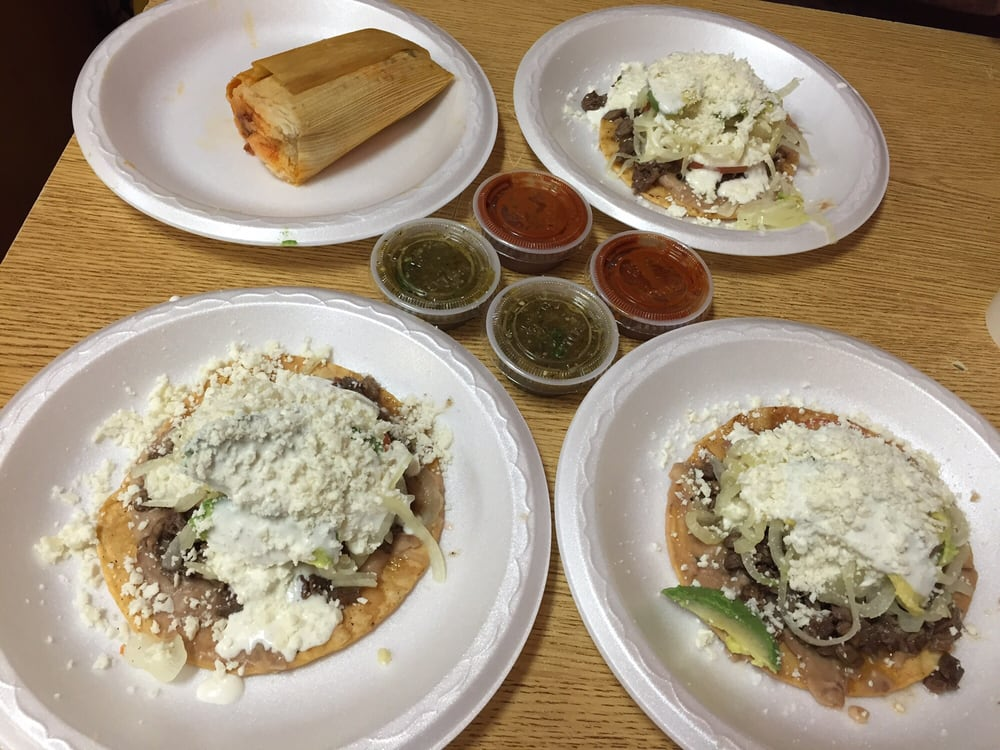 Taco, sopes, and Tostada